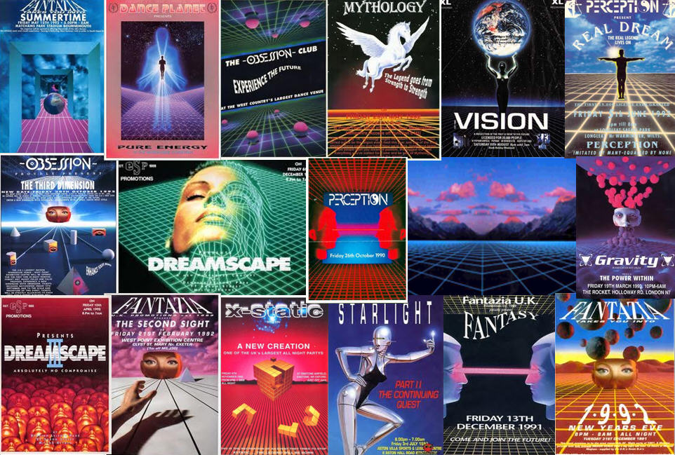Airbrushed Dreamscapes: Rave flyers of the early 90s | If-Only